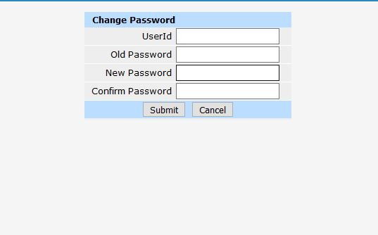 Change password of admin