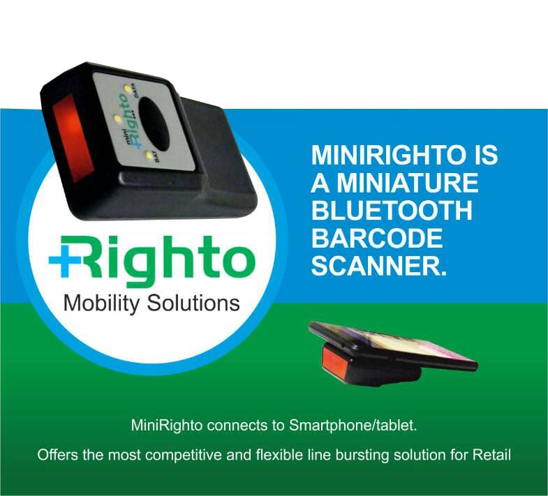righto barcode scanner WMS software